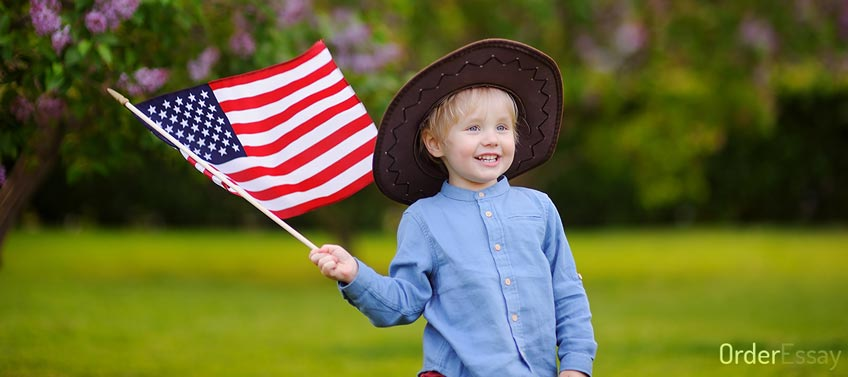 Boy with USA Flag